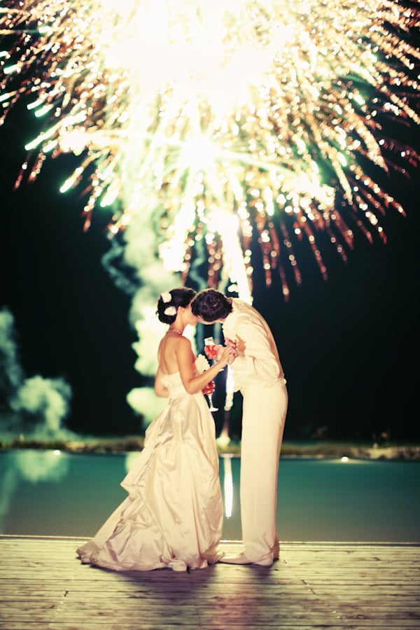 Talk about a stunning ending to a wedding!