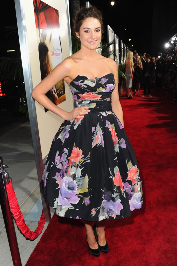 Shailene Woodley in Floral Dolce & Gabbana at the 2011 Descendants LA Premiere