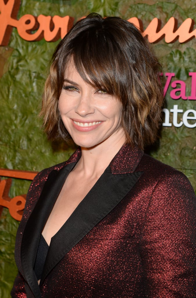 A choppy lob and gorgeous eyeliner were a great look on Evangeline Lily.