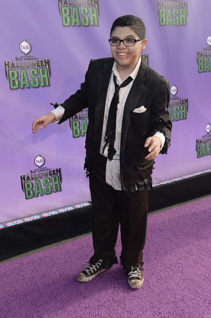 In 2013, Modern Family's Rico Rodriguez showed up at the Hub Network's Halloween Bash dressed as a zombie.