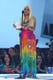 Nicki Minaj wore a tie-dyed dress to take the stage at the Aria Awards in Sydney.