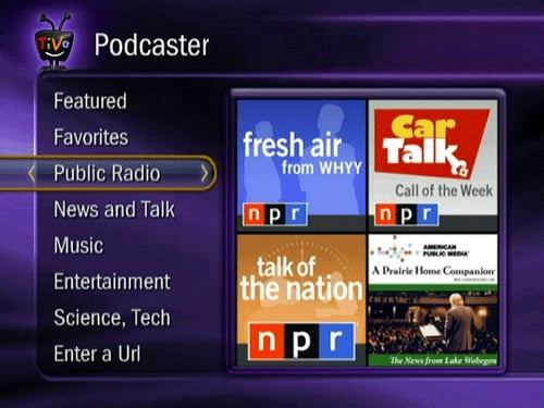 Listen to Podcasts on Your TV With TiVo Podcaster Feature