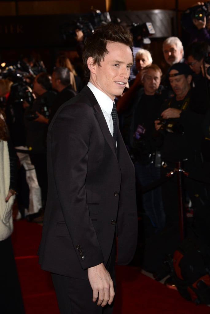 Eddie Redmayne drew cheers from female fans.