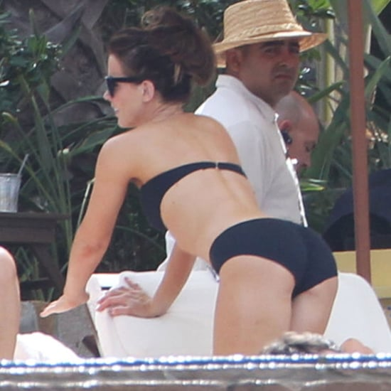 Kate Beckinsale Black Bikini Pictures in Mexico