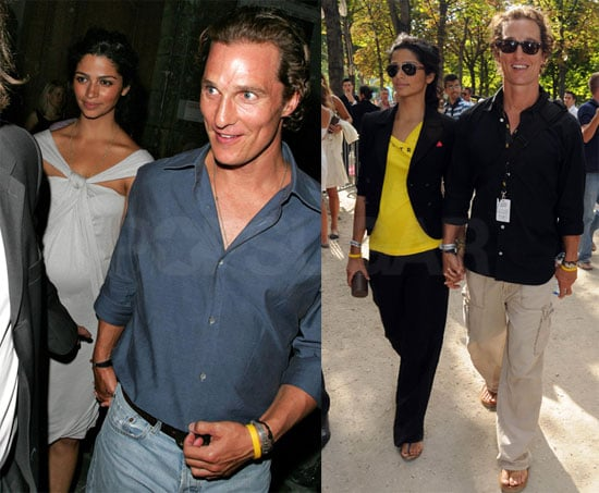 Photos of Matthew McConaughey and Camila Alves at the Tour de France in Paris