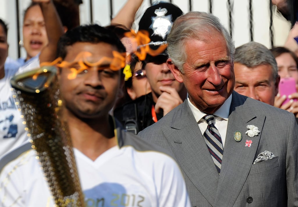 Prince Charles witnessed the torch pass through Tottenham.