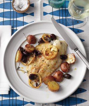 Roasted Tilapia, Potatoes, and Lemon Recipe