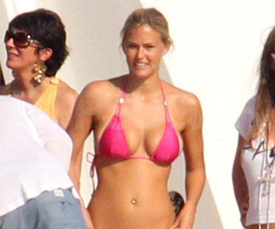 Slide Picture of Bar Refaeli in a Pink Bikini in Italy