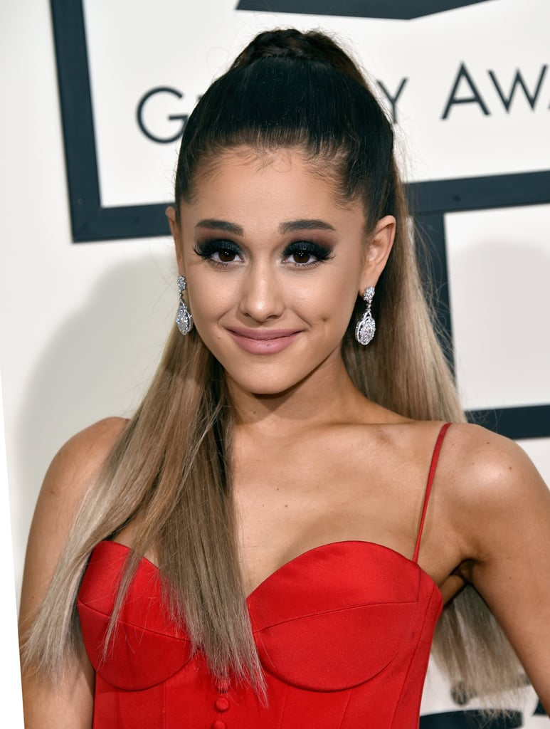 ariana grande 39 s hair and makeup at the 2016 grammy awards popsugar beauty. Black Bedroom Furniture Sets. Home Design Ideas