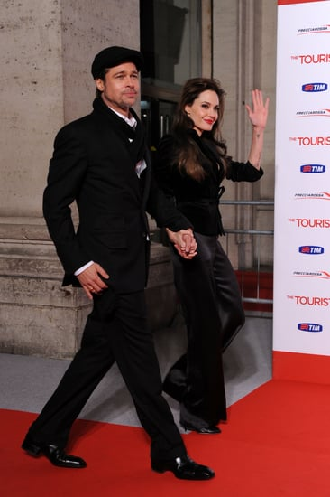 Pictures of Brad Pitt and Angelina Jolie at the Rome Premiere of The Tourist