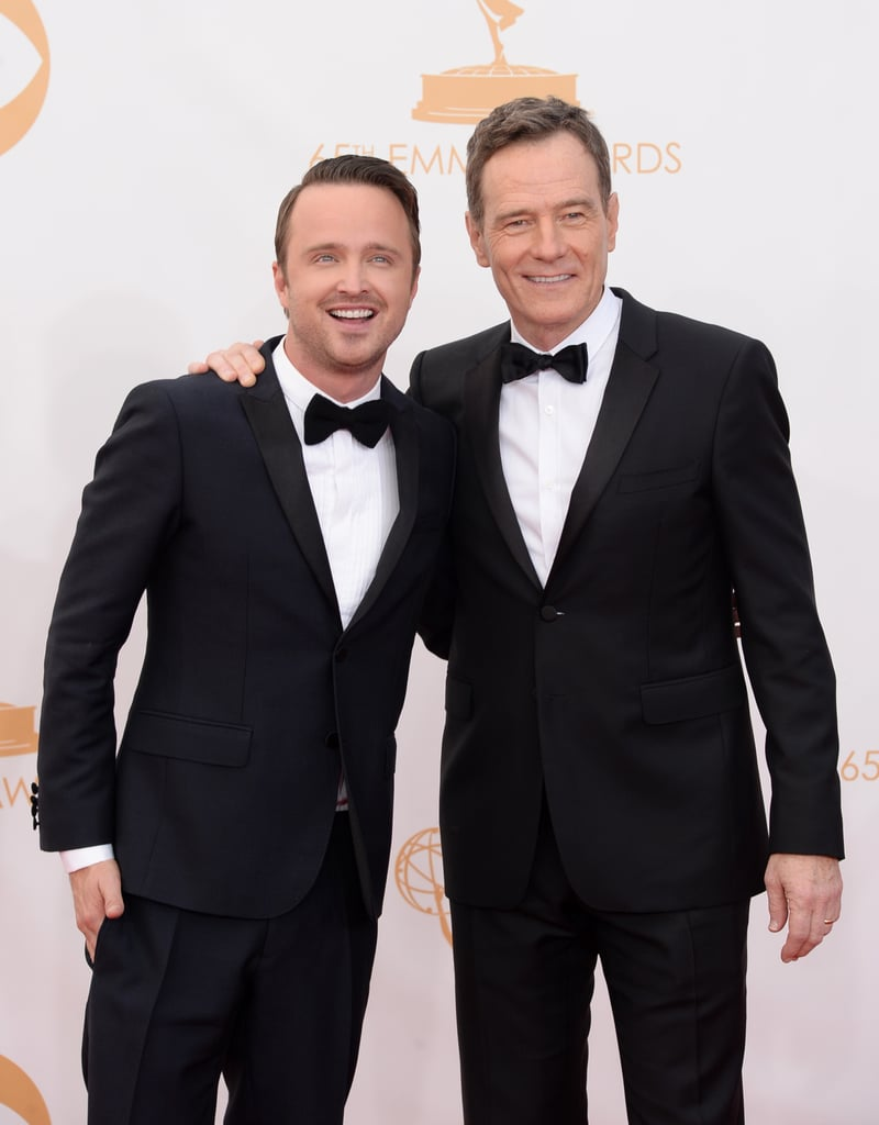 Breaking Bad stars Aaron Paul and Bryan Cranston made a dapper duo at the Emmys.