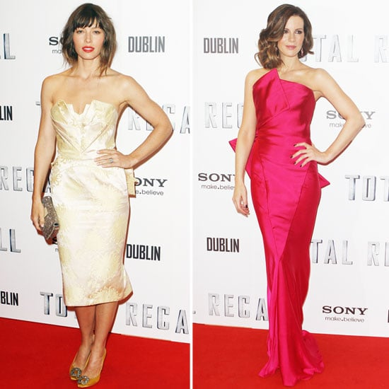 Jessica Biel and Kate Beckinsale Stylish in Dublin for Total Recall