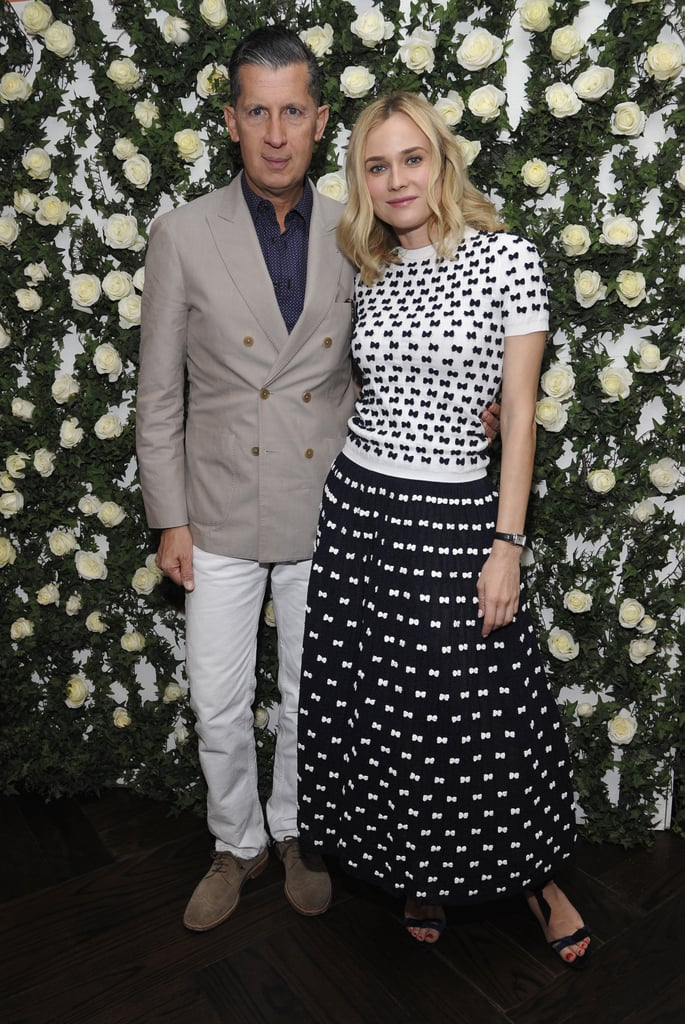 Stefano Tonchi and Diane Kruger at W magazine's Golden Globes luncheon.