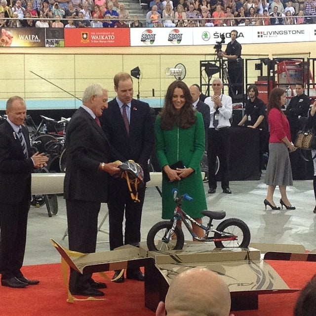 Will and Kate were gifted a mini bike for George. Source: Instagram user sperrypeoplemag