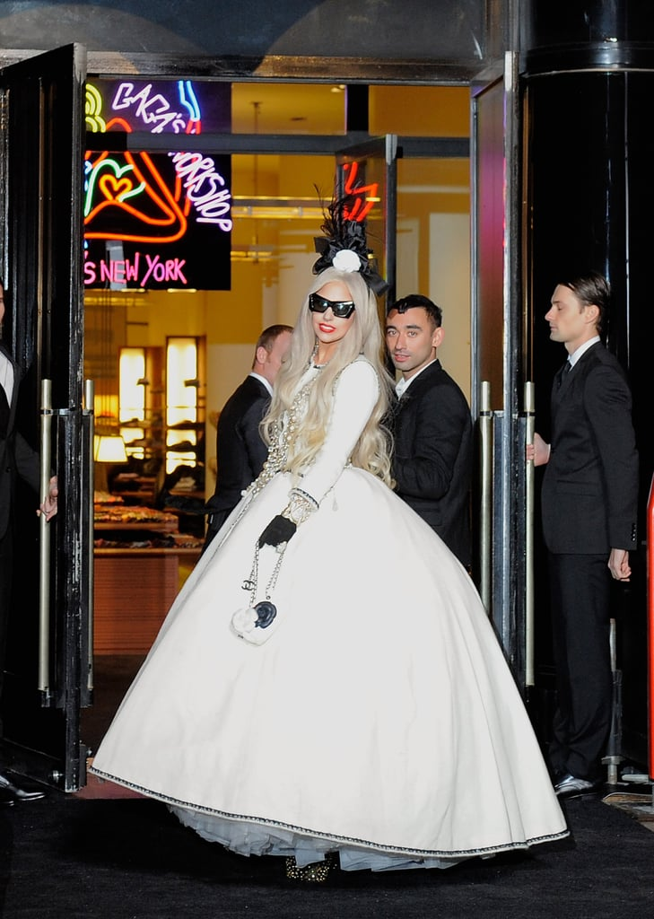 Lady Gaga made her way to the ribbon-cutting.