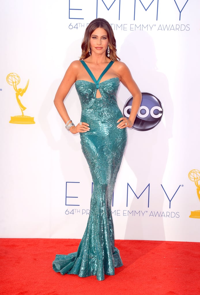 Sofia Vergara wowed in a sequinned green dress on the red carpet in 2012.