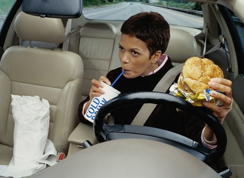 Avoid Mindless Eating in the Car