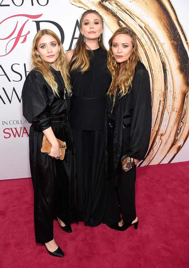 Ashley, Mary-Kate, and Elizabeth Olsen at CFDA Awards 2016 ...