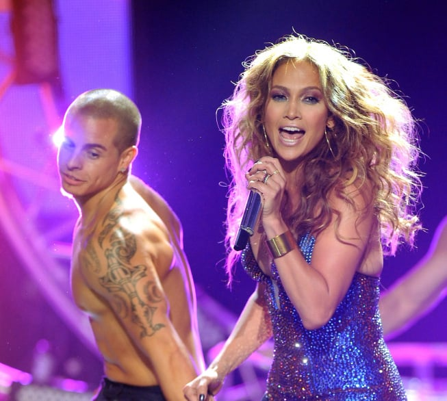 Casper Smart joined J Lo on stage. Photos courtesy of Fox/FX