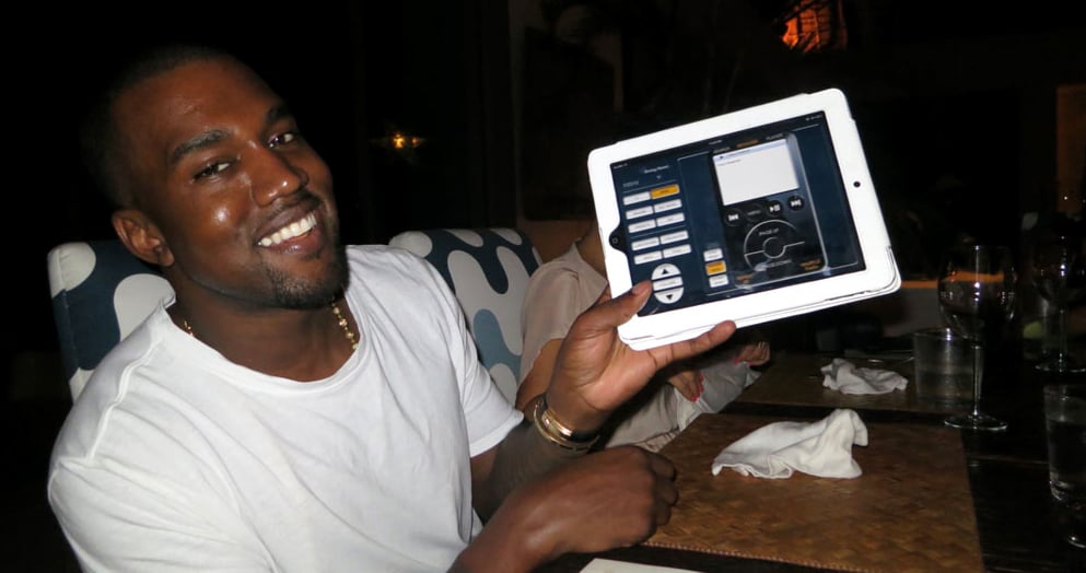 Kanye showed off the cool tech amenities.  Source: Casa Aramara