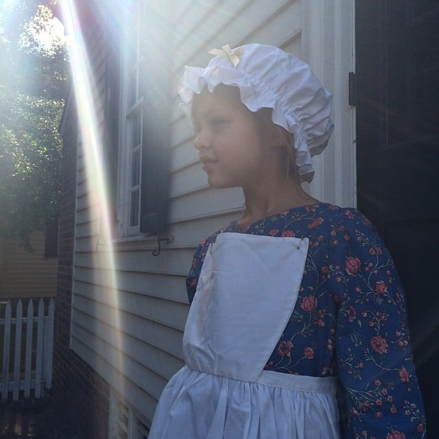 Busy Philipps shared this sweet photo of Birdie visiting Colonial Williamsburg in honor of her daughter's sixth birthday. Source: Instagram user busyphilipps