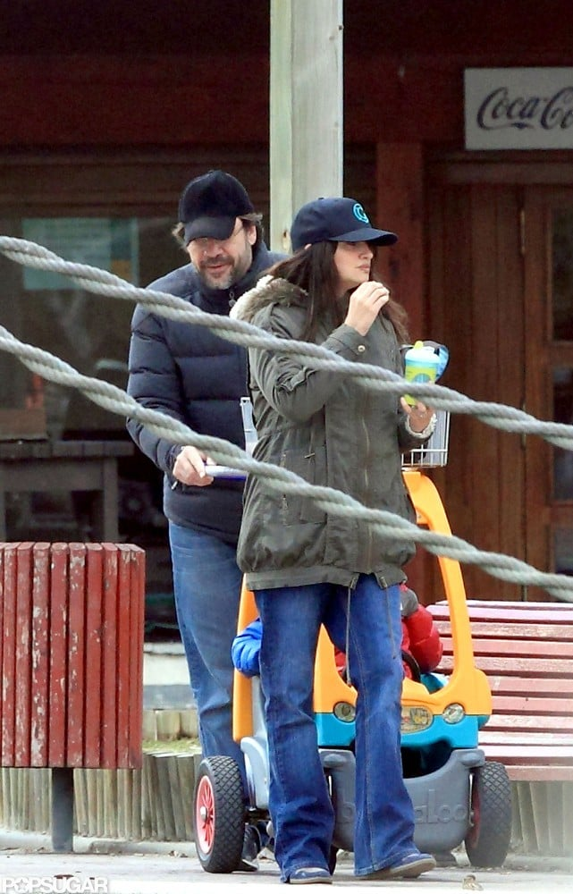 Penélope Cruz and Javier Bardem relaxed together in Madrid.