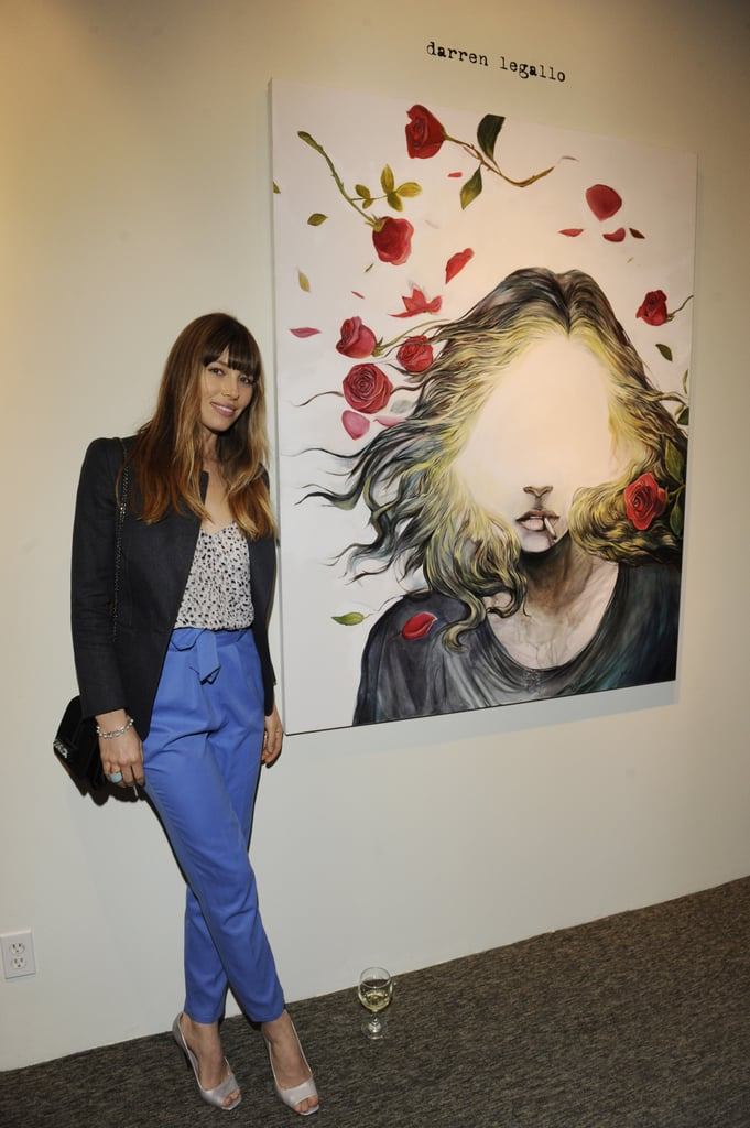 Jessica Biel stepped out in LA for the  Nothing You Don't Know exhibition.