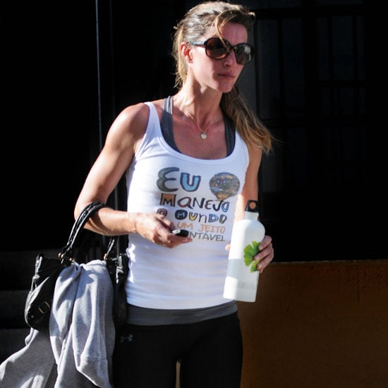 Pictures of Gisele Bundchen Leaving the Gym in LA