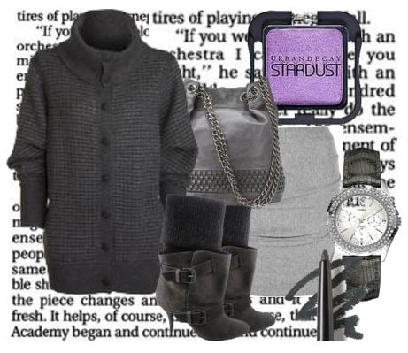 """""""Shades of Grey: The New Black"""" look by Marsoline"""
