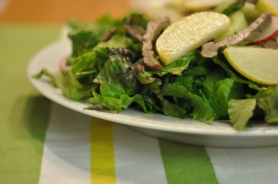 Apple Pear and Steak Salad