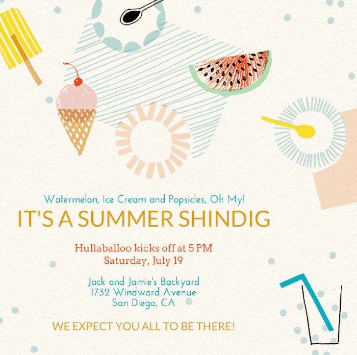 """Make a splash with this adorable invite (price upon request) that will have your guests RSVPing """"yes, please, with a cherry on top!"""""""