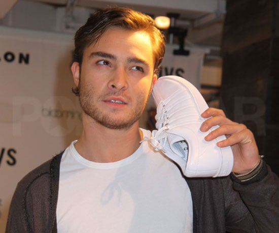 Slide Photo of Ed Westwick at K-Swiss Event
