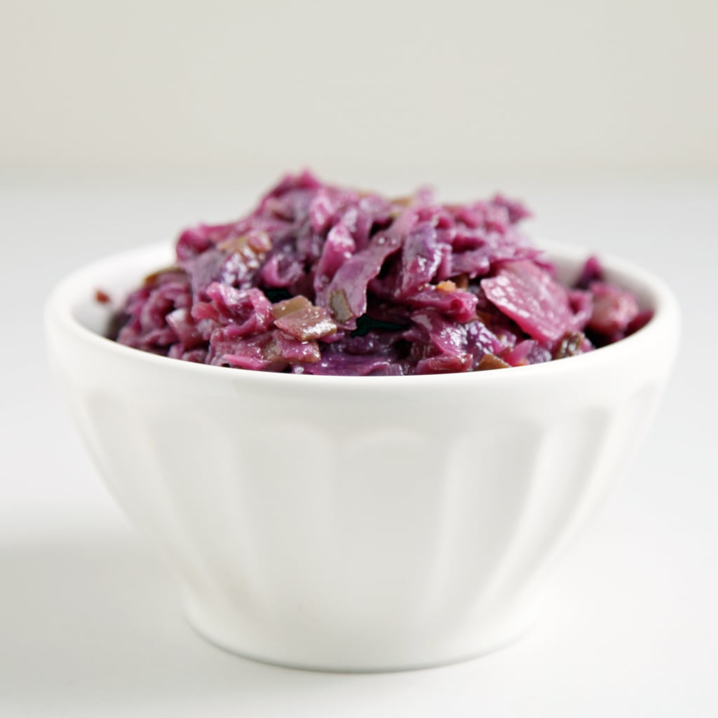 Red Cabbage Braised With Maple, Bacon, and Ginger