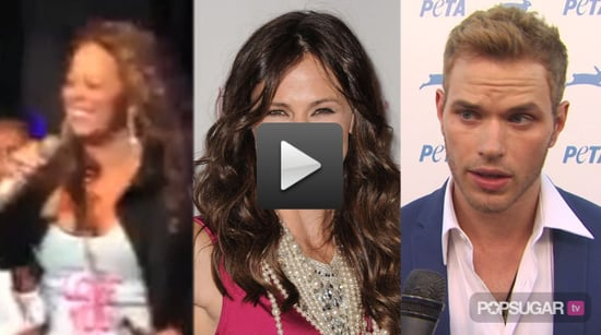 Video of Mariah Carey and Stars Falling on Stage, Jennifer Garner at the Pink Party, Kellan Lutz on the Red Carpet