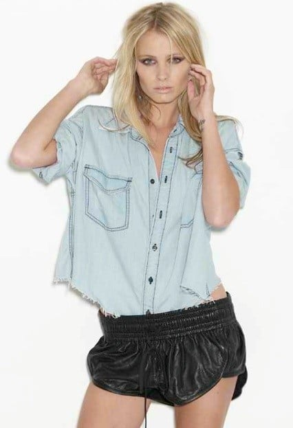 This cropped top is loose enough for much-needed air ventilation, and we love the vintage chambray hue.  One Teaspoon Mickey Shirt in Chambray ($105)