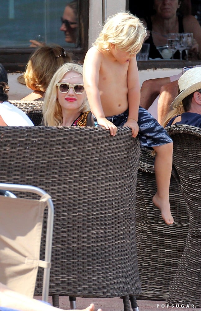 Gwen Stefani had lunch with her son Zuma Rossdale.
