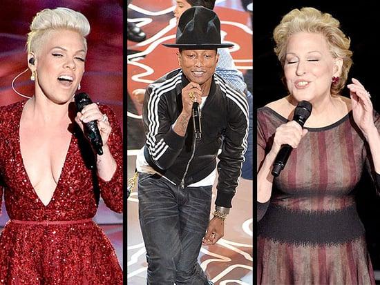 2014 Oscars: Pharrell, Bette Midler, Pink, U2, Karen O & Ezra Koenig Perform
