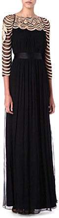TEMPERLEY LONDON Long Wave Embroidery gown