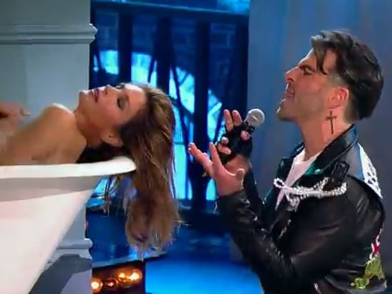 Freedom! Cindy Crawford Gets Naked in a Tub - Again - for Zachary Quinto's Lip Sync Battle Performance