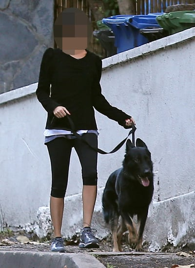 Guess Which Celeb Is Walking Her Dog?