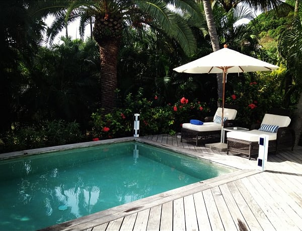 Candice Swanepoel hung poolside during the day.  Source: Instagram user angelcandices