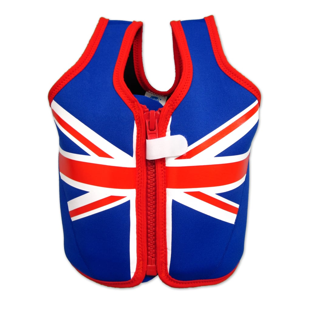 Just in time for Summer swim season, this Union Jack Float Jacket ($48) will keep tots' heads above water as they're learning their strokes.