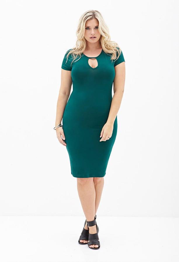 Forever 21 Plus-Size Keyhole-Cutout Dress