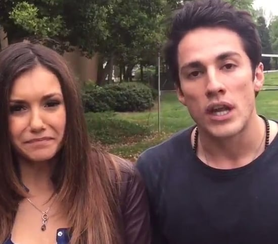 Nina Dobrev, Michael Trevino Say Emotional Goodbye to The Vampire Diaries Fans After Sucking in Helium!