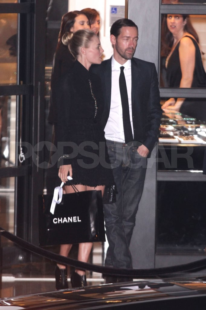 Kate Bosworth left a Chanel party with boyfriend Michael Polish.