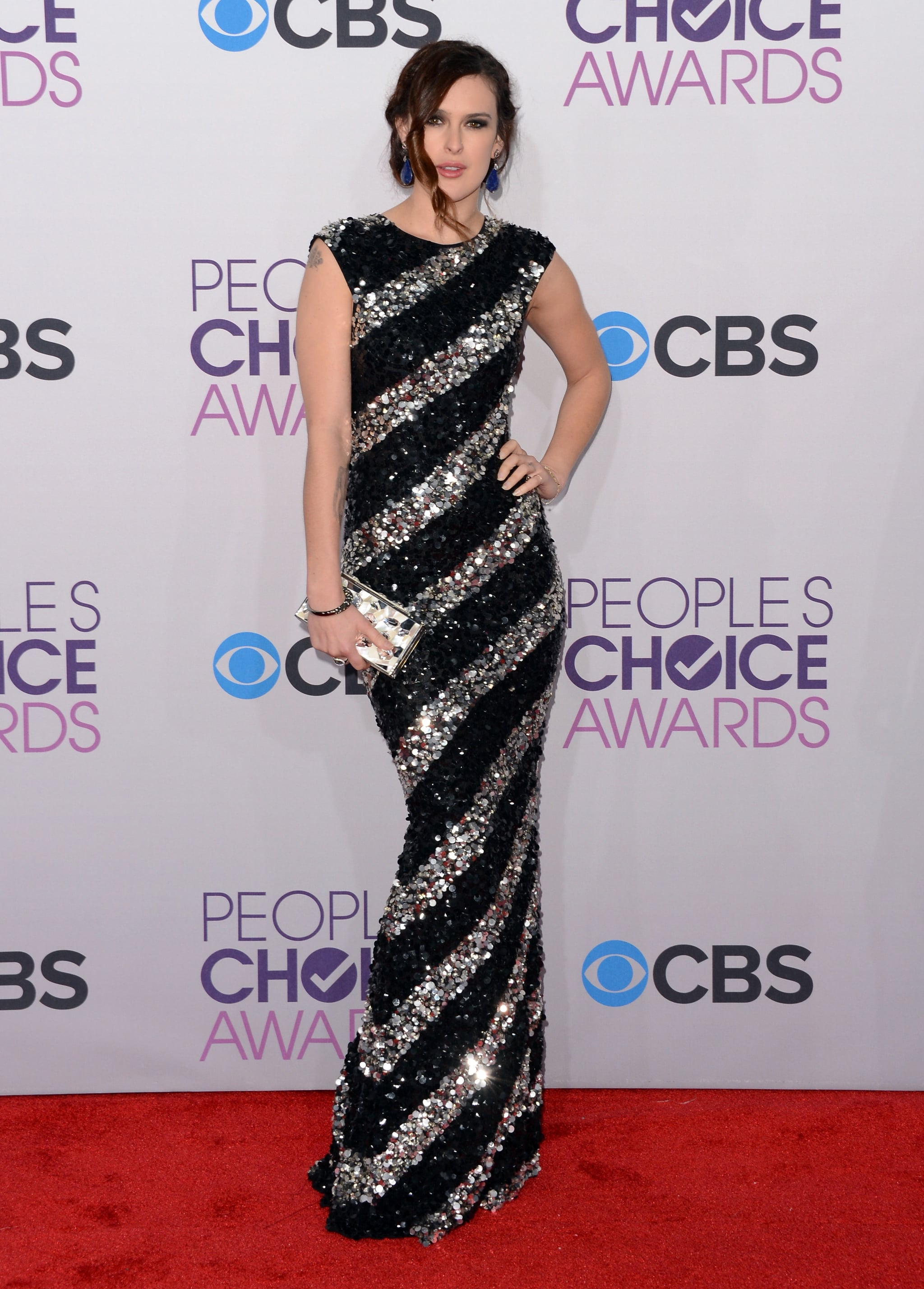 Rumer Willis arrived at the People's Choice Awards.