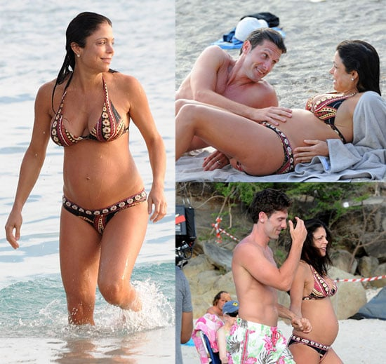Bethenny Frankel Pregnant Bikini Photos on Honeymoon in St. Barts