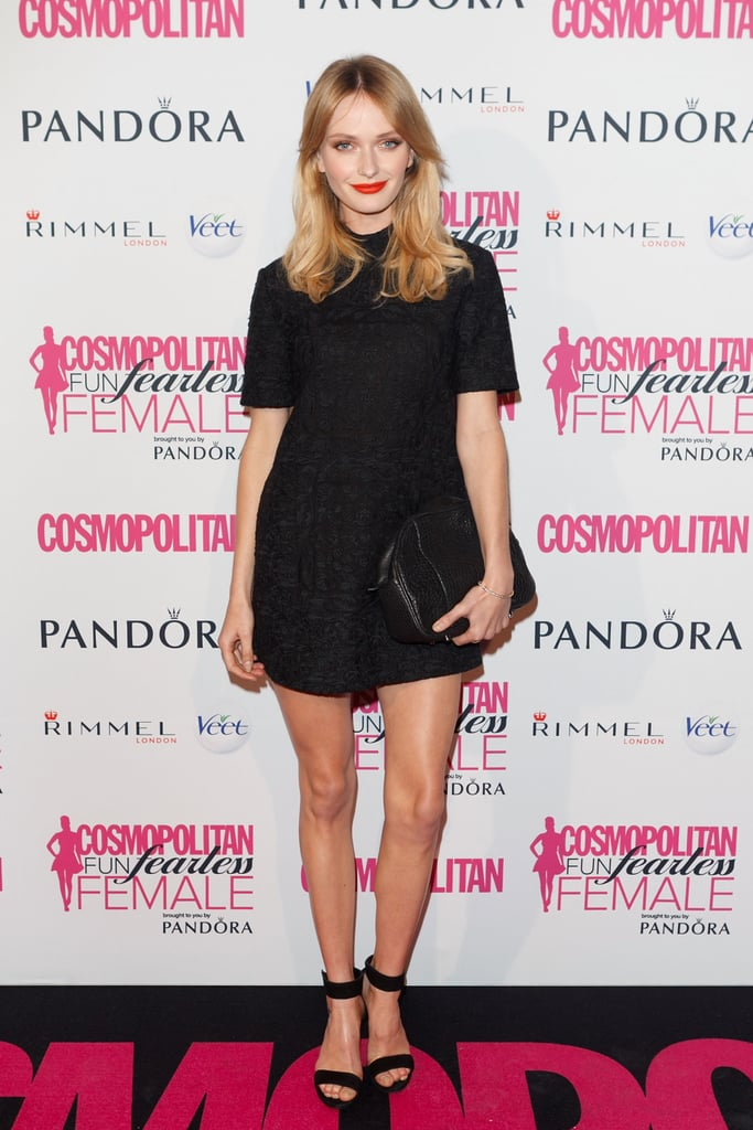 Aussie model Annabella Barber makes an LBD look a million bucks with her casual elegance and confidence. Points for the super simple two-strap heels and complete lack of accessories — totally understated, totally cool.