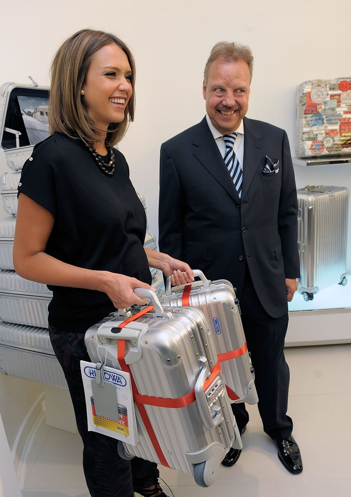 Jessica Alba Talks Pregnancy, Travel Tips, and Her Summer Reads as She Plays Host For Rimowa