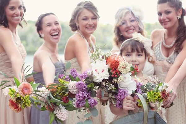Wildflower Bridesmaid Bouquets